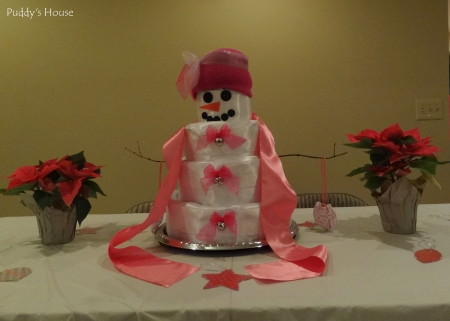 Baby Shower - Diaper Cake Snow Woman