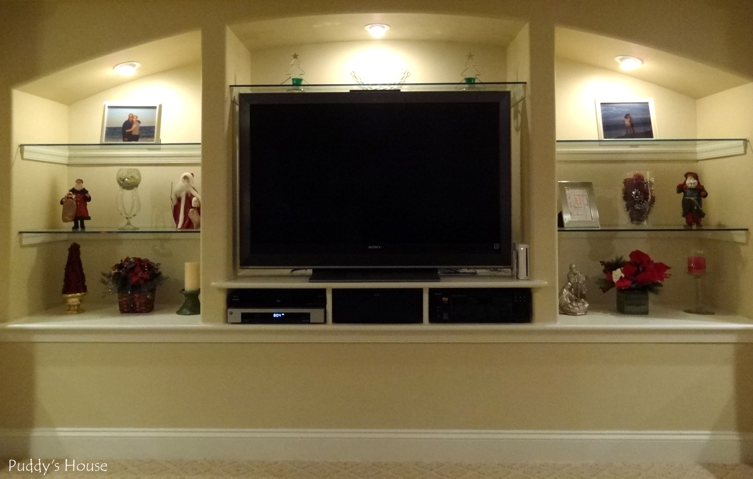Basement Entertainment Center Shelves