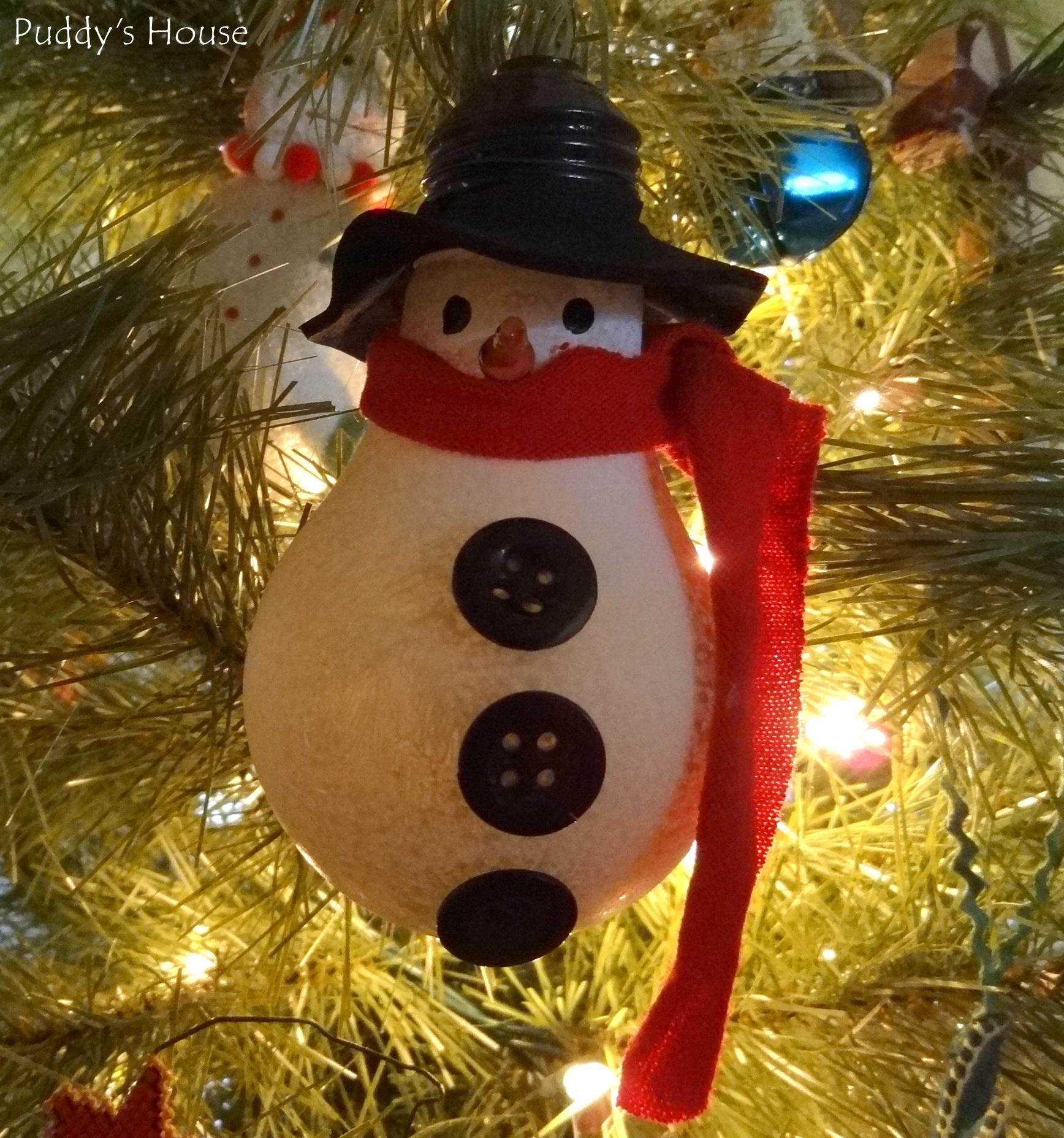 Light bulb ornaments - Diy Christmas Ornaments Lightbulb Snowman
