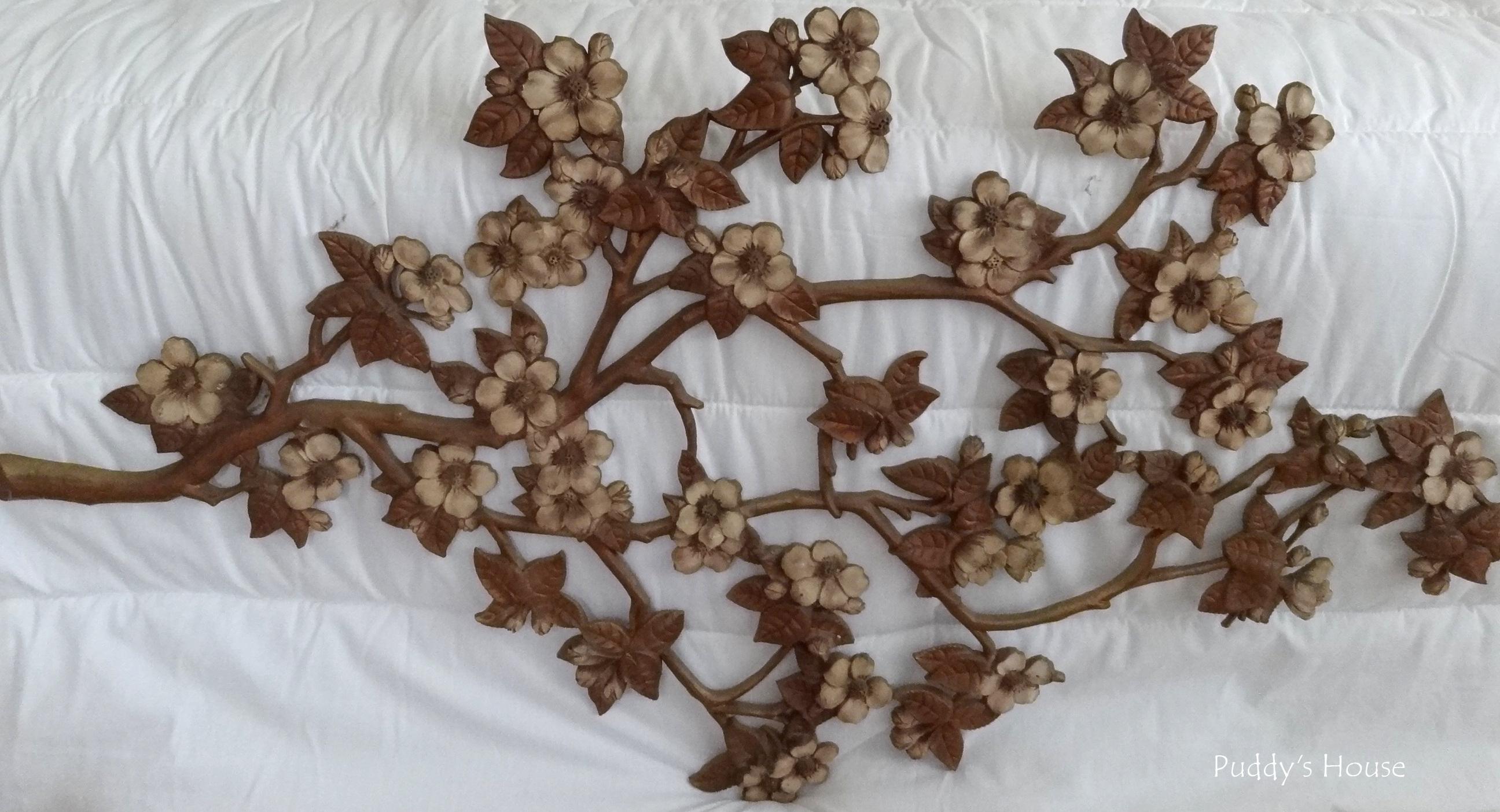Thrift Shopping - branch flower wall art