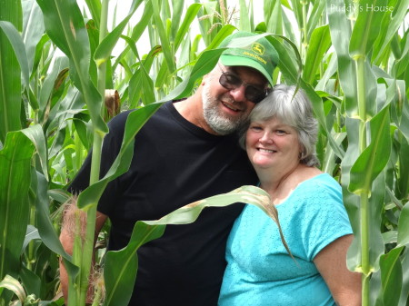 Anniversary - mom and dad in corn