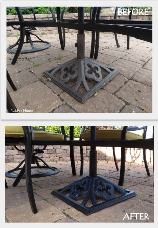 Spraypaint Love - Umbrella Stand before and after