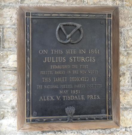 Sturgis Pretzels - Julius Sturgis pretzel sign