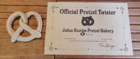 Sturgis Pretzels - pretzel and official pretzel twister certificate