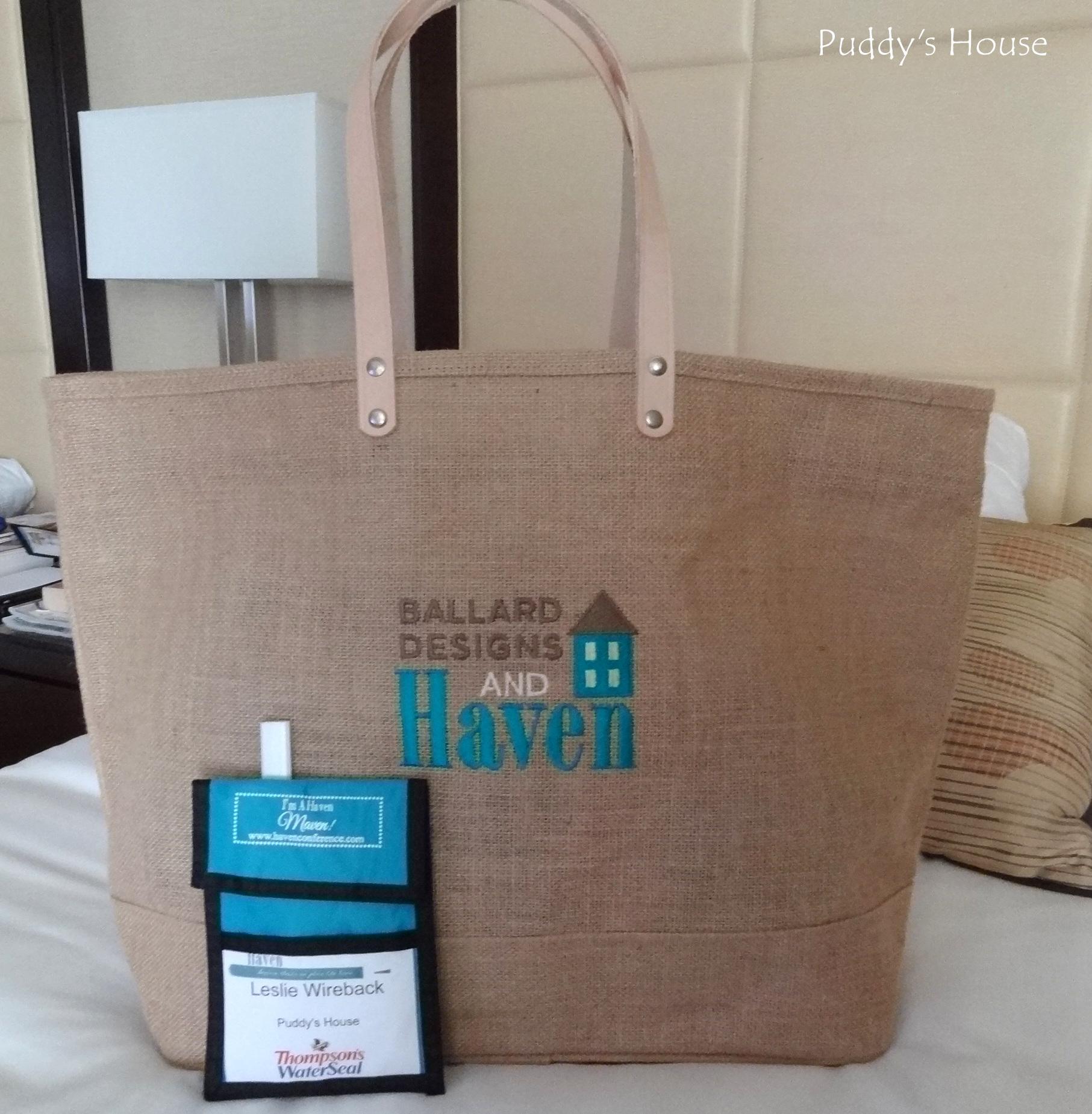 Haven 2013 - Swag Bag and Name Tag