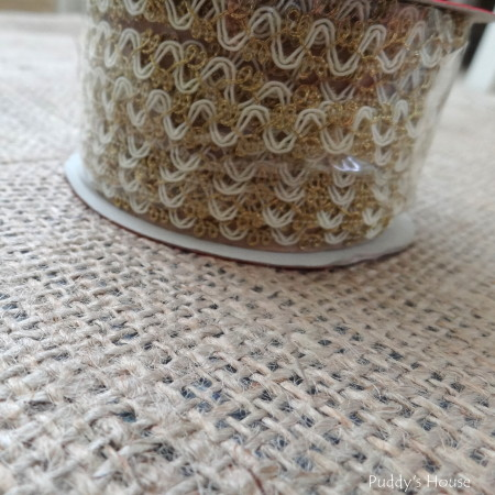 Fall - burlap with ribbon on roll