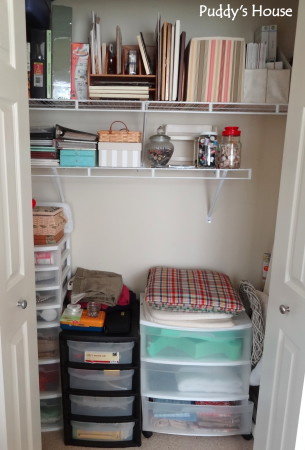 Getting organized - craft closet after