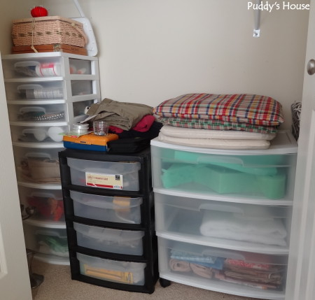Getting organized - craft closet bottom after
