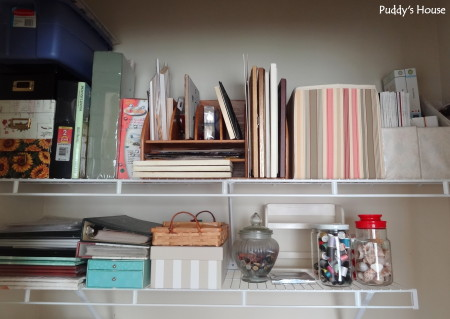 Getting organized - craft closet shelves after