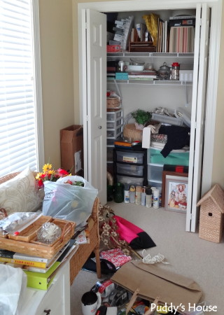 Getting organized - craft room and closet before