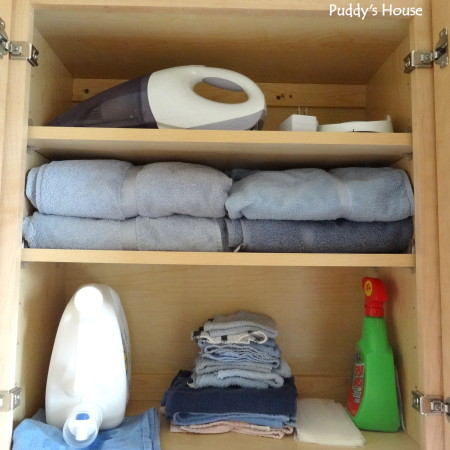 Getting organized - laundry room left cupboard after