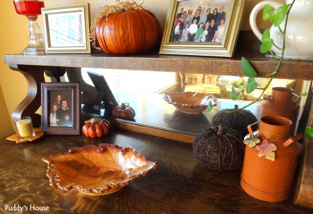 Fall Decorating - breakfast buffet decor