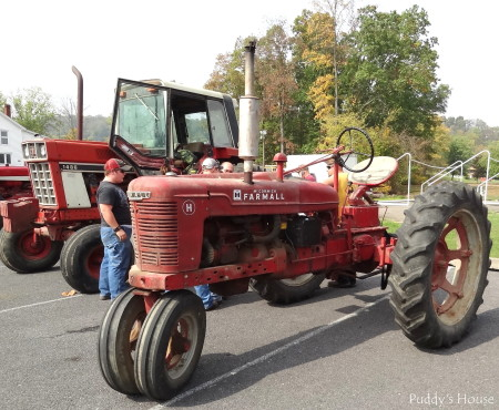 Tractor Ride - Farmall with International in background