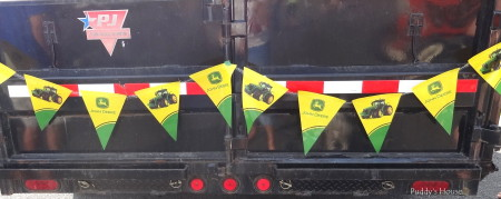 Tractor Ride - John Deere Bunting on wagon