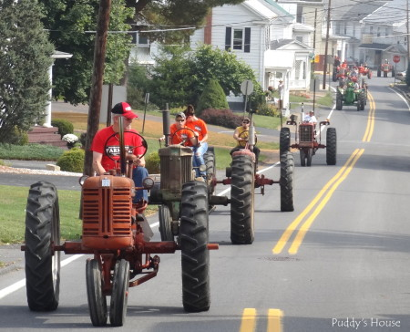 Tractor Ride - tractors riding through Thompsontown