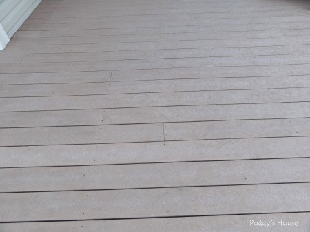pressure washing - deck after