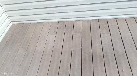 pressure washing - deck before up close