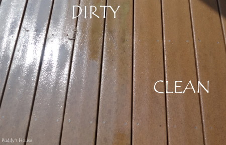 pressure washing - deck - clean vs. dirty