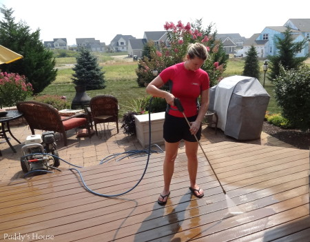 pressure washing - leslie washing deck
