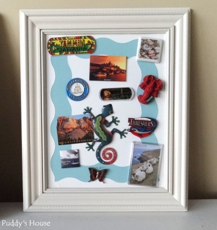 Magnetic Frame - After with magnets