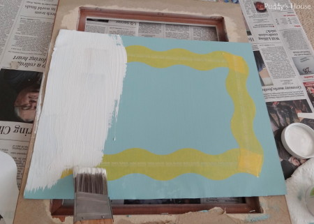 Magnetic Frame - painting white over shape tape
