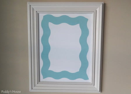 Magnetic Frame- sheet metal after painting and shape tape