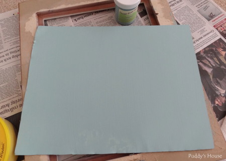 Magnetic Frame - sheet metal painted turquoise