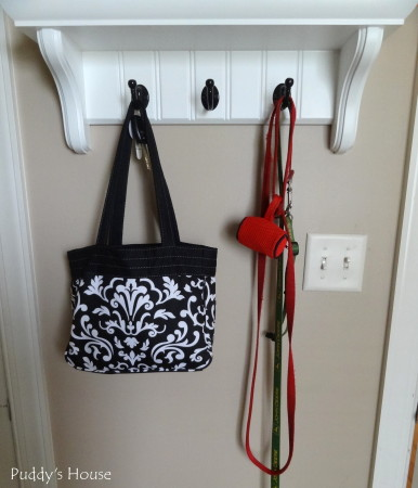 Dog supply organization - laundry room hooks for dog leash