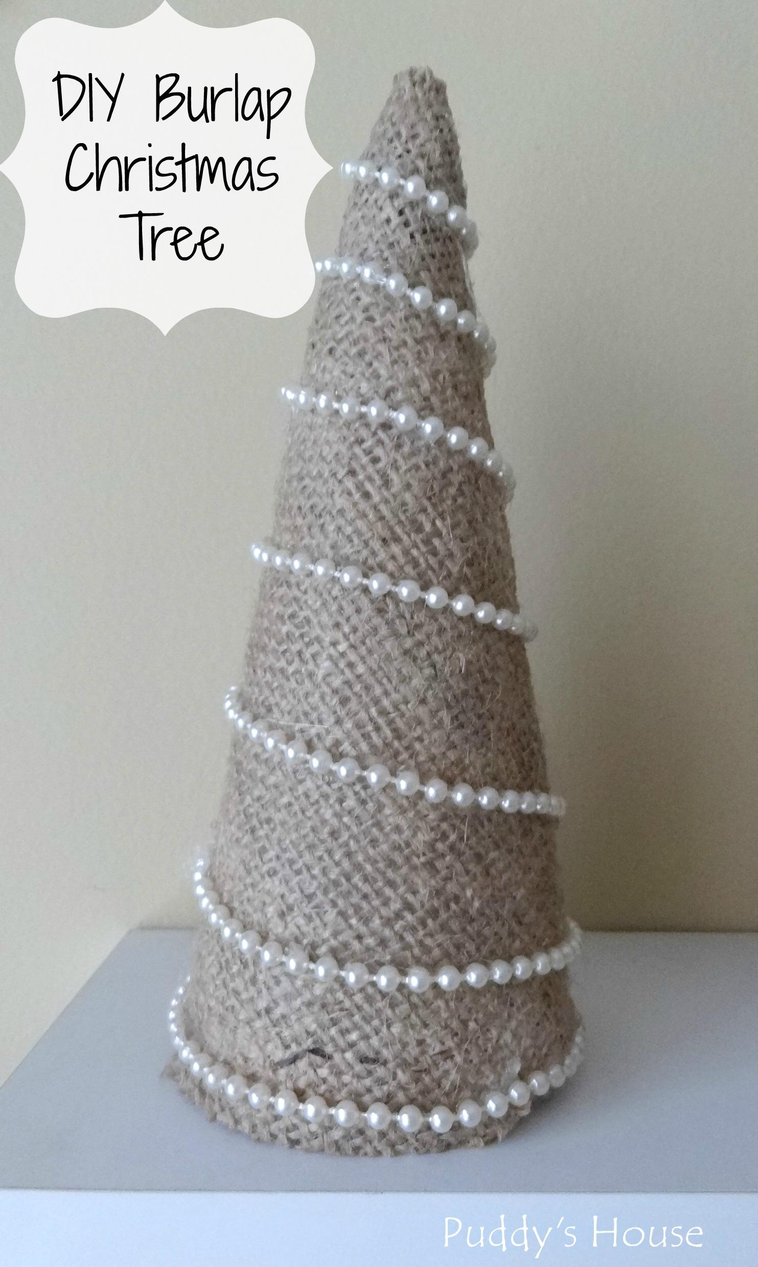 Diy Garland Christmas Tree Easy Diy Burlap Christmas Tree