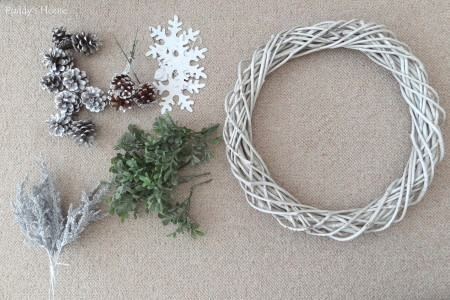 DIY Winter Wreath - supplies