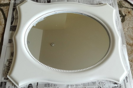 DIY Seashell Mirror - painted