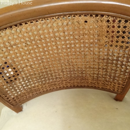 Ugly to Pretty - chair caning before