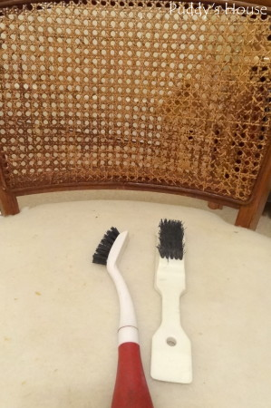 Ugly to Pretty - chair caning with wire brush