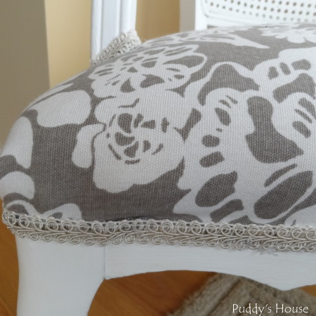 Ugly to Pretty - chair trim close up