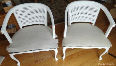 Ugly to Pretty - chairs after painting