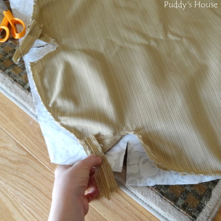 Ugly to Pretty - cutting new fabric for pattern