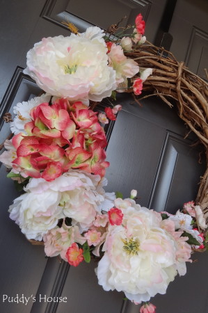DIY Spring Wreath 2014 - after flowers close up