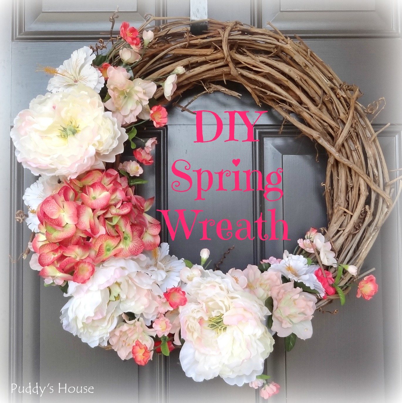 2014 diy spring wreath puddy 39 s house