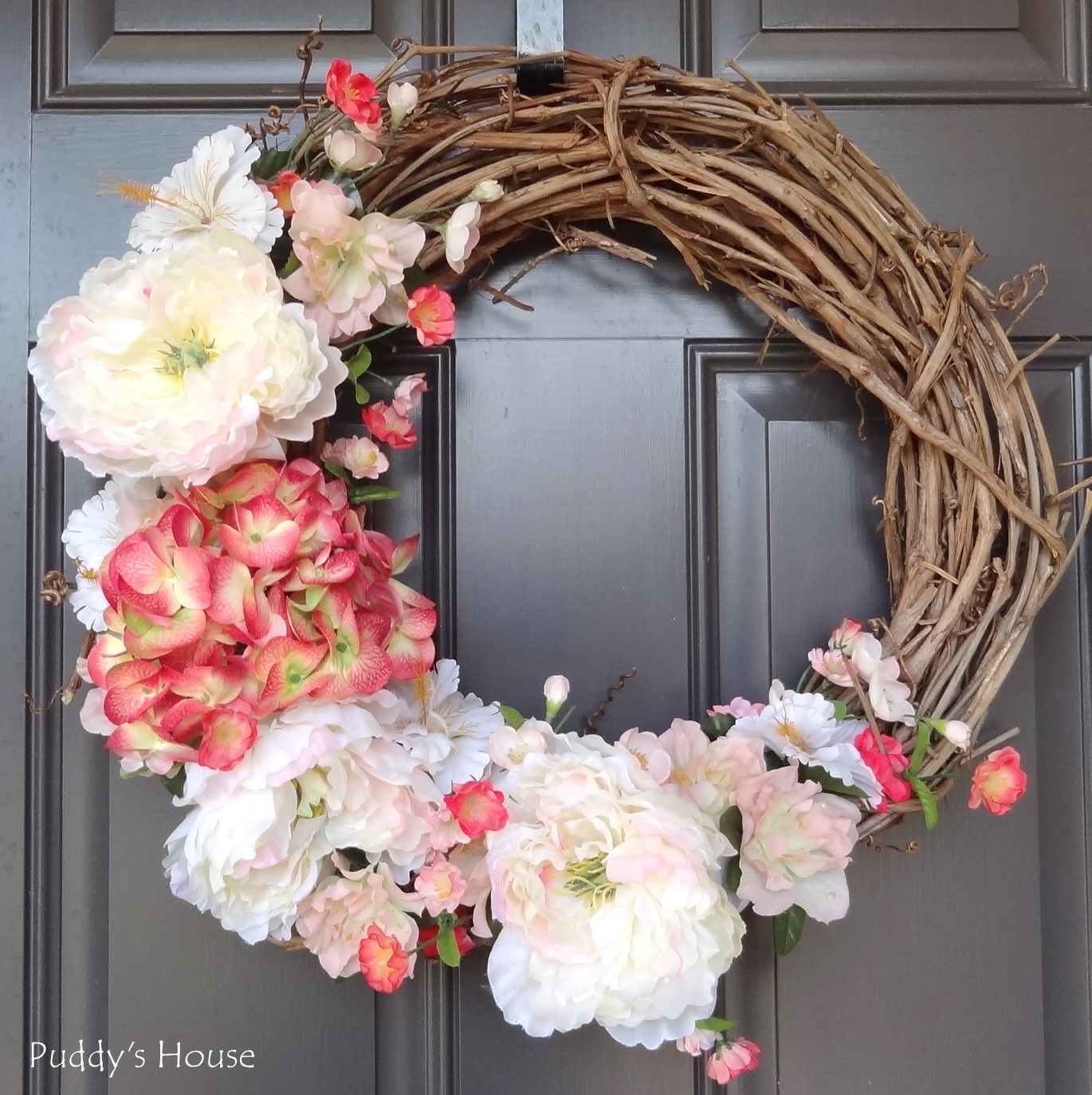 Spring Door Wreath Ideas Part - 29: DIY Spring Wreath 2014 - After On Front Door
