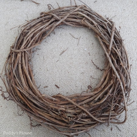 DIY Spring Wreath 2014 - grapevine wreath