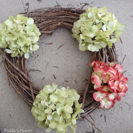 DIY Spring Wreath 2014 - hydrangeas