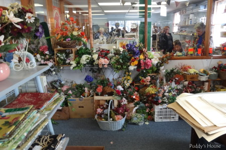 Lancaster Creative Reuse - flowers and fabric