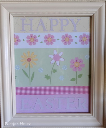 Easter Decorating - Happy Easter in frame