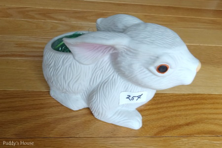 Easter Decorating - ceramic bunny