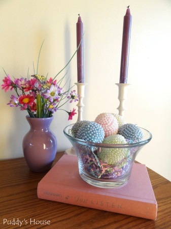 Easter Decorating - foyer vignette