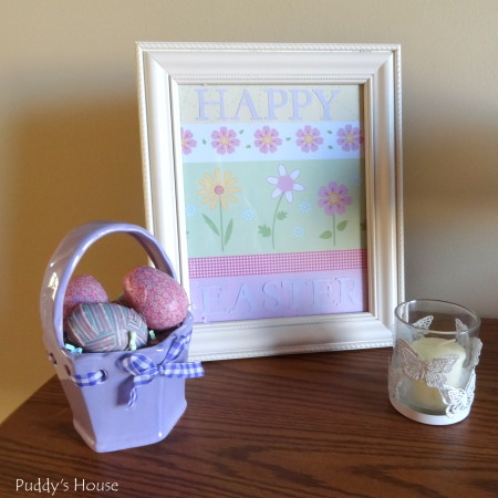Easter Decorating - foyer vignette2