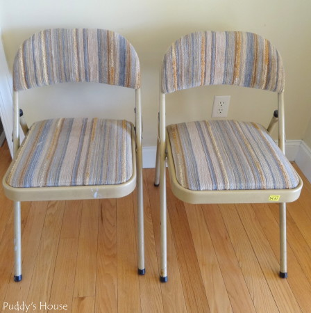 Folding Chair Makeover - Before