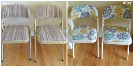 Folding Chair Makeover - Before and After