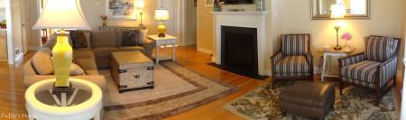 Living Room Reveal - panoramic
