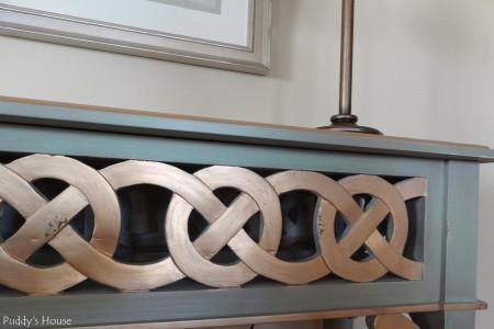 Living Room Reveal - ribbon table detail
